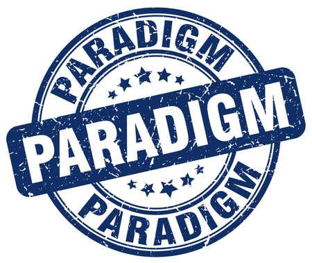 paradigm: paradigm blue grunge stamp Illustration