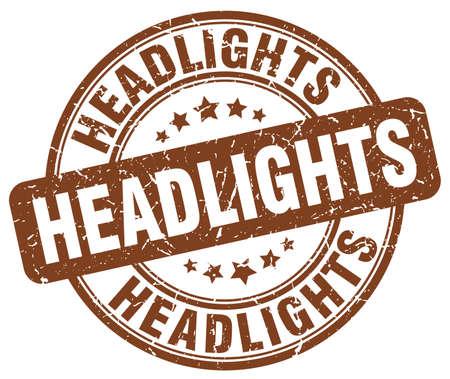 headlights: headlights brown grunge stamp