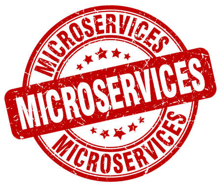 red grunge: microservices red grunge stamp