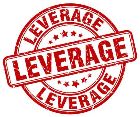 leverage: leverage red grunge stamp