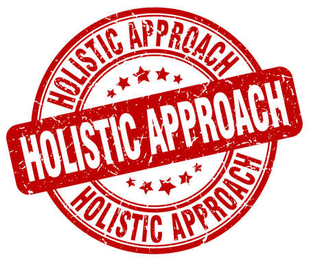 holistic: holistic approach red grunge stamp Illustration