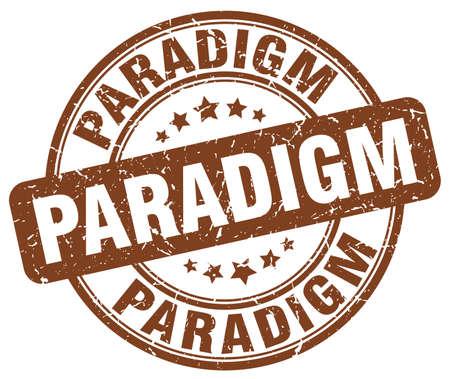 paradigm: paradigm brown grunge stamp Illustration