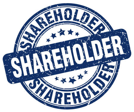 shareholder: shareholder blue grunge stamp Illustration