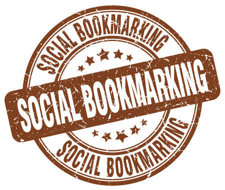 bookmarking: social bookmarking brown grunge stamp Illustration