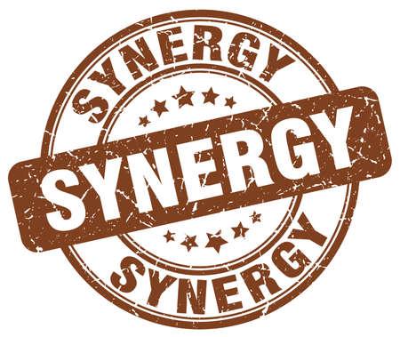 sinergia: sinergia sello del grunge marrón Vectores