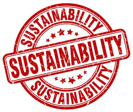 red grunge: sustainability red grunge stamp