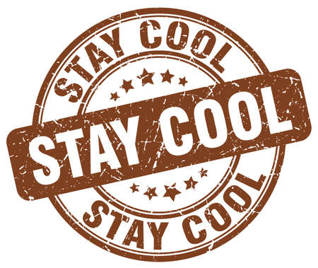 stay: stay cool brown grunge stamp