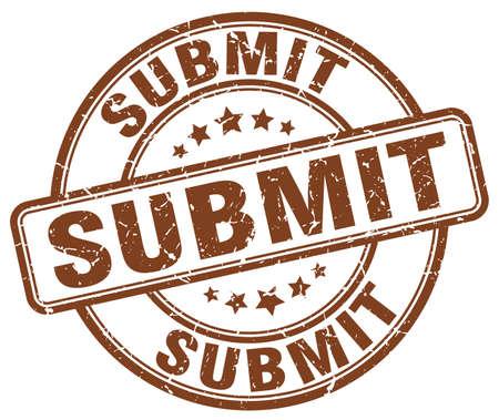 submit: submit brown grunge stamp