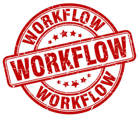 workflow: workflow red grunge stamp