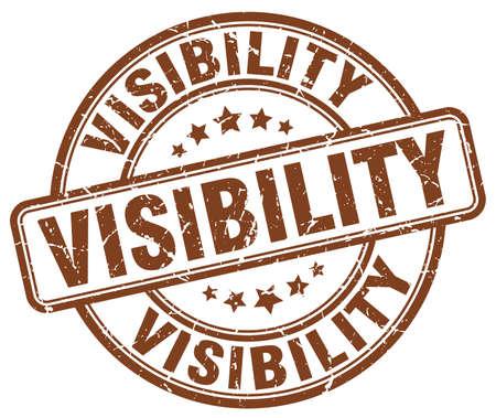 visibility: visibility brown grunge stamp Illustration