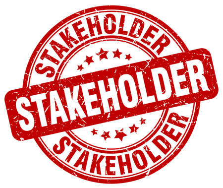 stakeholder: stakeholder red grunge stamp