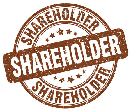 shareholder: shareholder brown grunge stamp