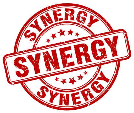 sinergia: sinergia grunge sello rojo