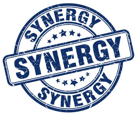 sinergia: sinergia sello azul del grunge