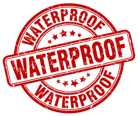 waterproof red grunge stamp Illustration