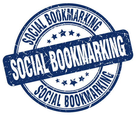 bookmarking: social bookmarking blue grunge stamp Illustration