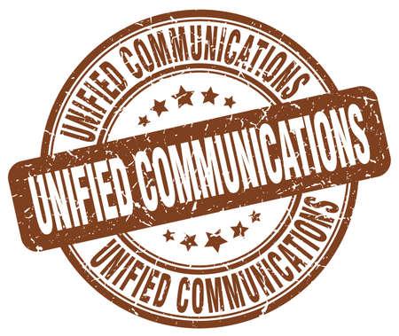 通信: ユニファイドコミュニケーション茶色グランジ スタンプ  イラスト・ベクター素材