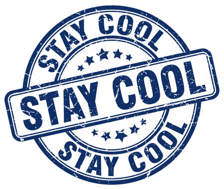 stay: stay cool blue grunge stamp