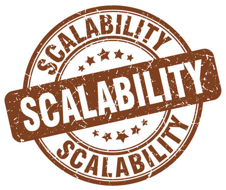 scalability: scalability brown grunge stamp