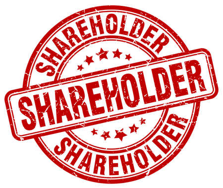 shareholder: shareholder red grunge stamp