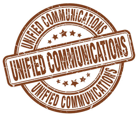 unified communications brown grunge stamp
