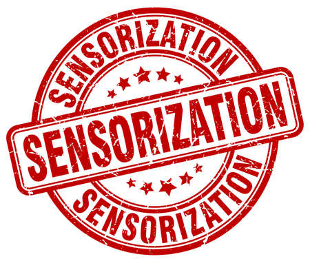 red grunge: sensorization red grunge stamp