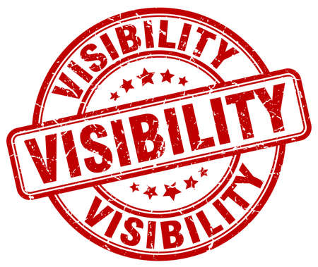 visibility: visibility red grunge stamp Illustration