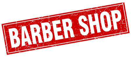 barber shop: barber shop square stamp