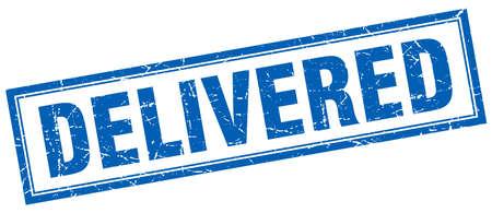 delivered: delivered square stamp