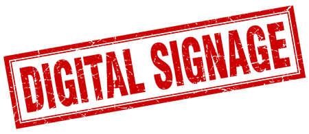 signage: digital signage square stamp
