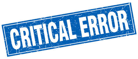 critical error square stamp