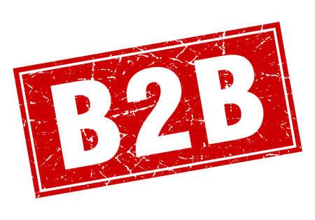 b2b: b2b square stamp Illustration