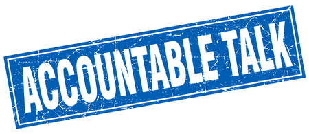 accountable: accountable talk square stamp