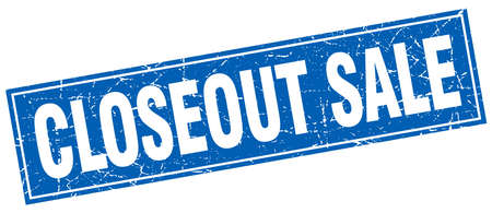 closeout: closeout sale square stamp