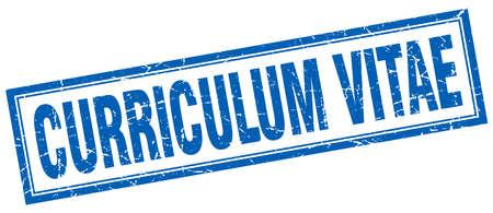curriculum: curriculum vitae square stamp Illustration