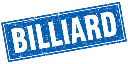 billiard: billiard square stamp Illustration
