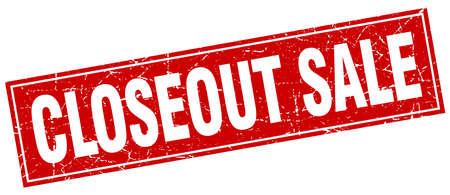 closeout sale square stamp