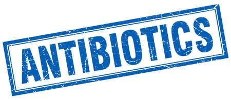 antibiotics: antibiotics square stamp