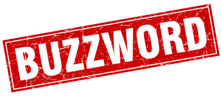 buzzword: buzzword square stamp