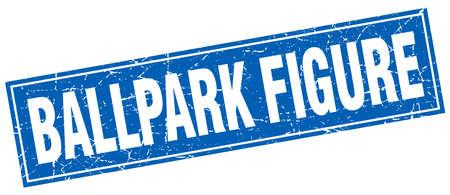 ballpark: ballpark figure square stamp