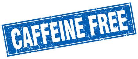 caffeine free: caffeine free square stamp Illustration