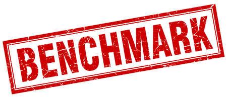 benchmark: benchmark square stamp Illustration