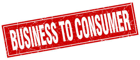 consumer: business to consumer square stamp