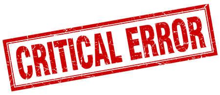 critical: critical error square stamp