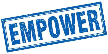 empower: empower square stamp