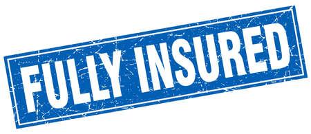 insured: fully insured square stamp