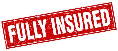 fully: fully insured square stamp