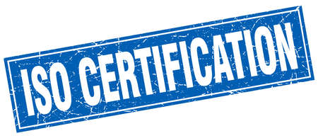 certification: iso certification square stamp