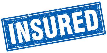 insured: insured square stamp