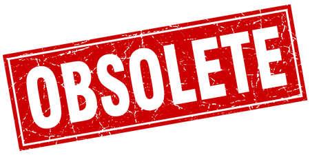 obsolete: obsolete square stamp Illustration